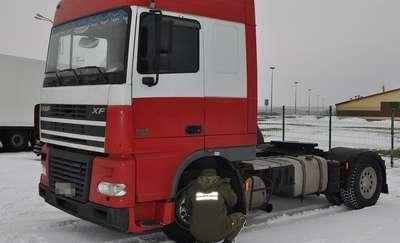 Ciężarówka zatrzymana na przejściu granicznym w Grzechotkach