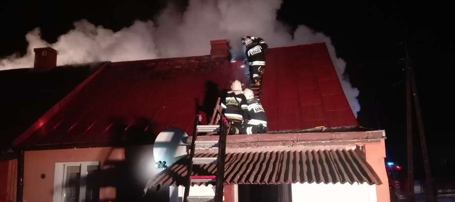 Pożar w Janowie