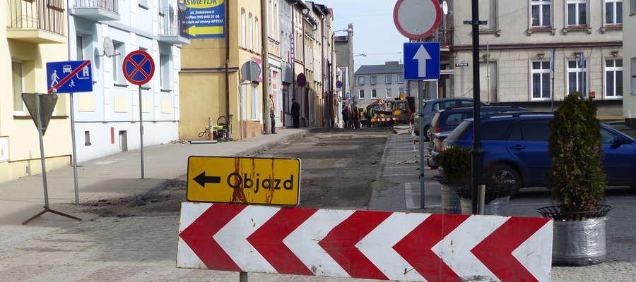 Uwaga na utrudnienia w ruchu w centrum Lubawy!