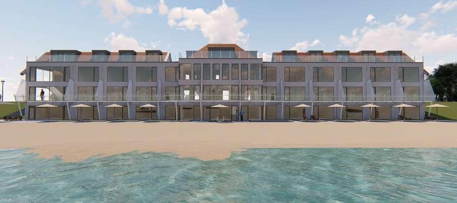 """Tak ma wyglądać hotel """"Kormoran"""" z perspektywy jeziora"""