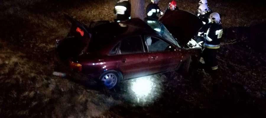 Wypadek w Sołdanach 20 marca wieczorem