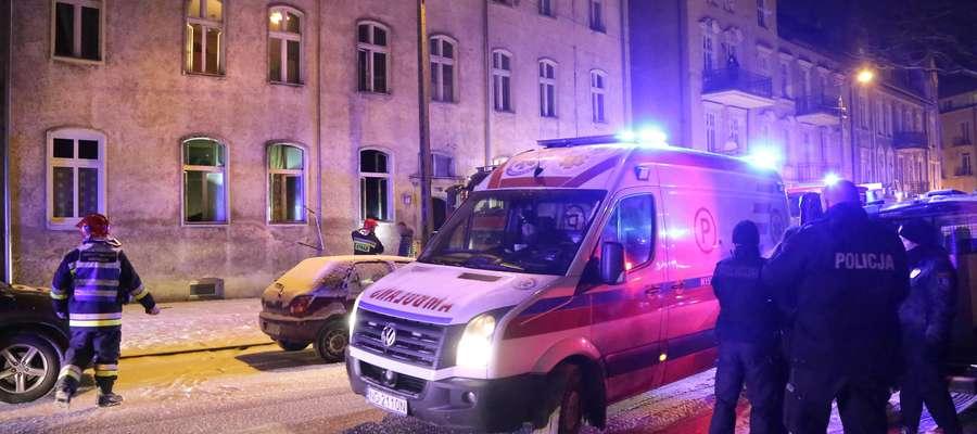 Pożar mieszkania przy ul. Okrzei