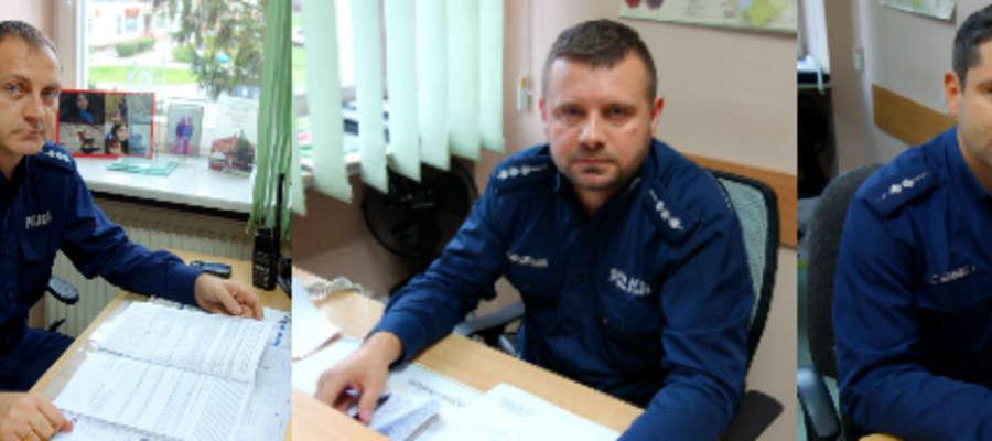 Od lewej strony st. asp. Tomasz Grysz, st. asp. Dominik Siestrzewitowski i asp. Rafał Żurawski (kliknij na zdjęcie, aby zobaczyć je w całości)
