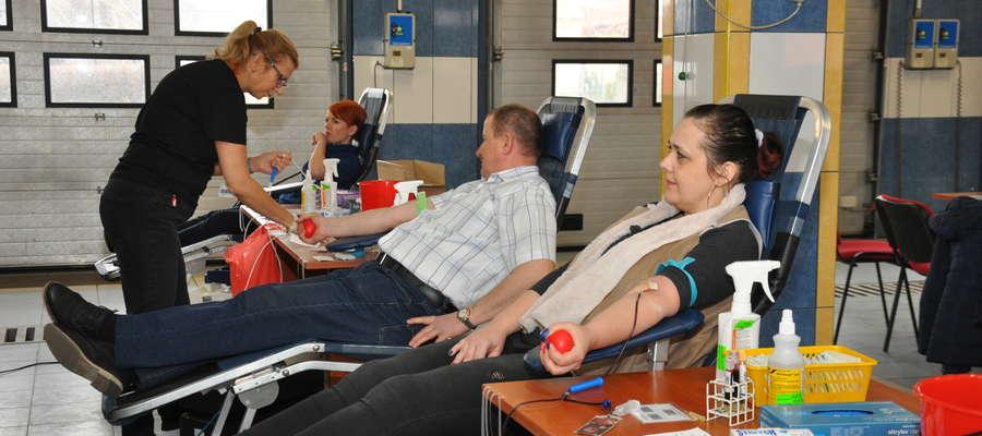 Podczas ostatniej akcji poboru krwi w straży