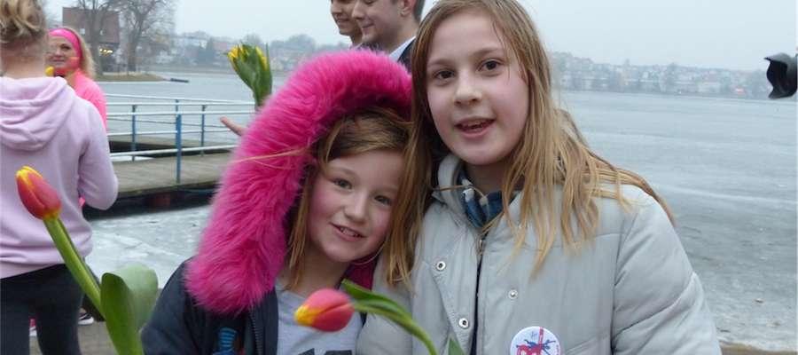 Dziewczyny z SP3, uczestniczki biegu