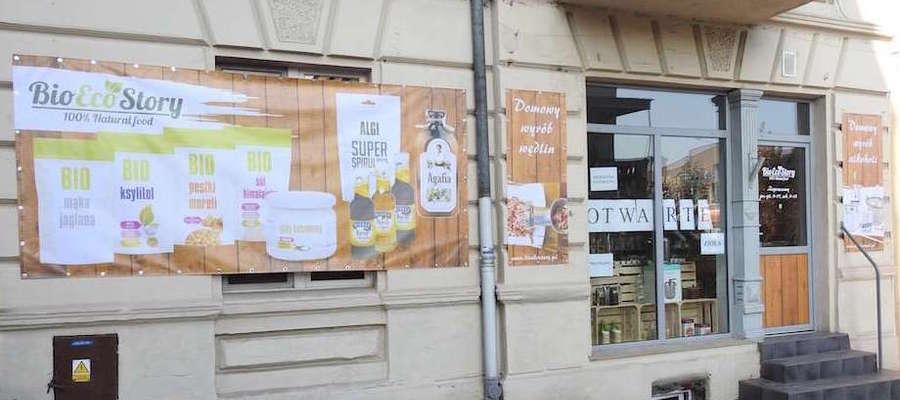 Sklep Bio Eko Story mieści się przy ul. Kazimierza Wielkiego w Nowym Mieście Lubawskim
