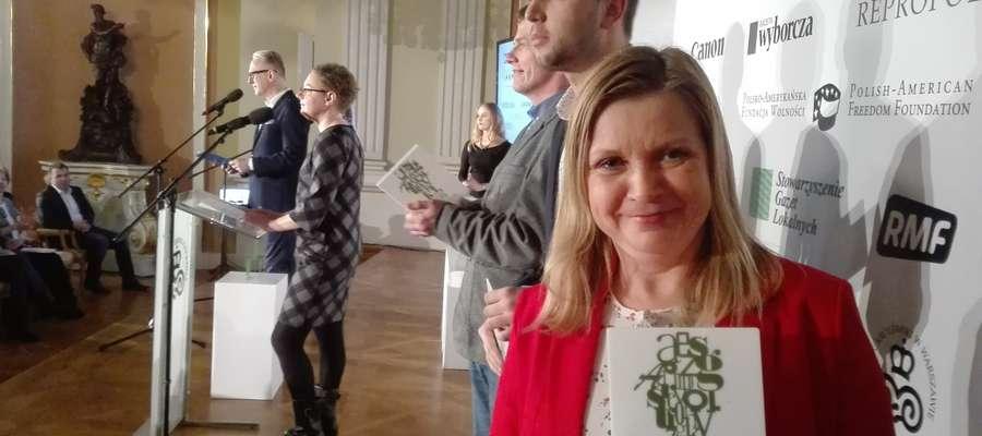 Anna Dawid podczas wręczenia nagród na Zamku Królewskim w Warszawie