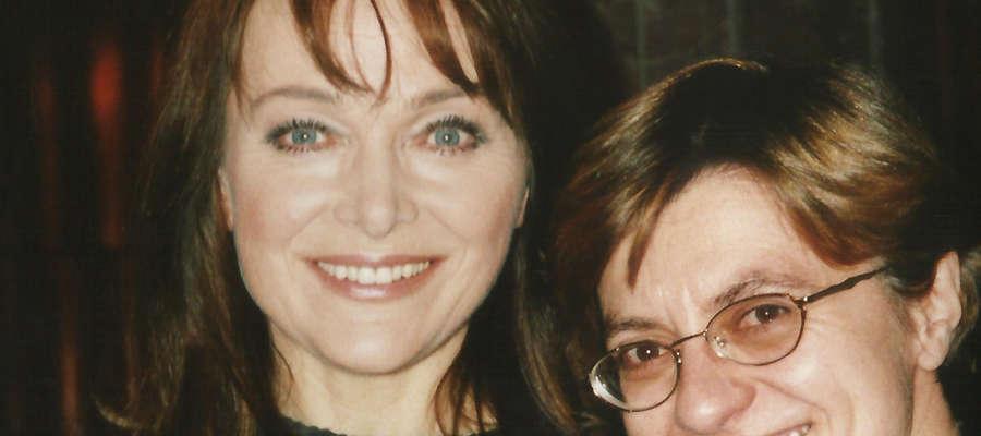 Fot.—Spotkanie autorki książki Marioli Pryzwan z Ireną Jarocką w 2001 roku
