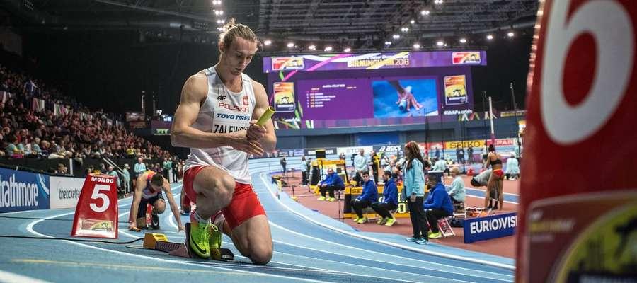 Karol Zalewski ostatnie sekundy przed startem. Chwilę później - nowy mistrz i rekordzista świata
