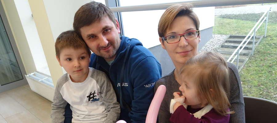 Rodzina państwa Łuniewskich na Przeglądzie Malucha