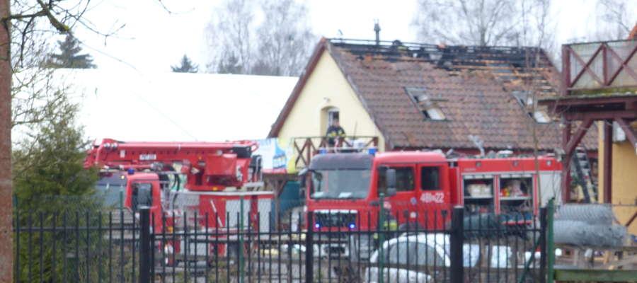 Pożar budynku przy ul. Warmińskiej