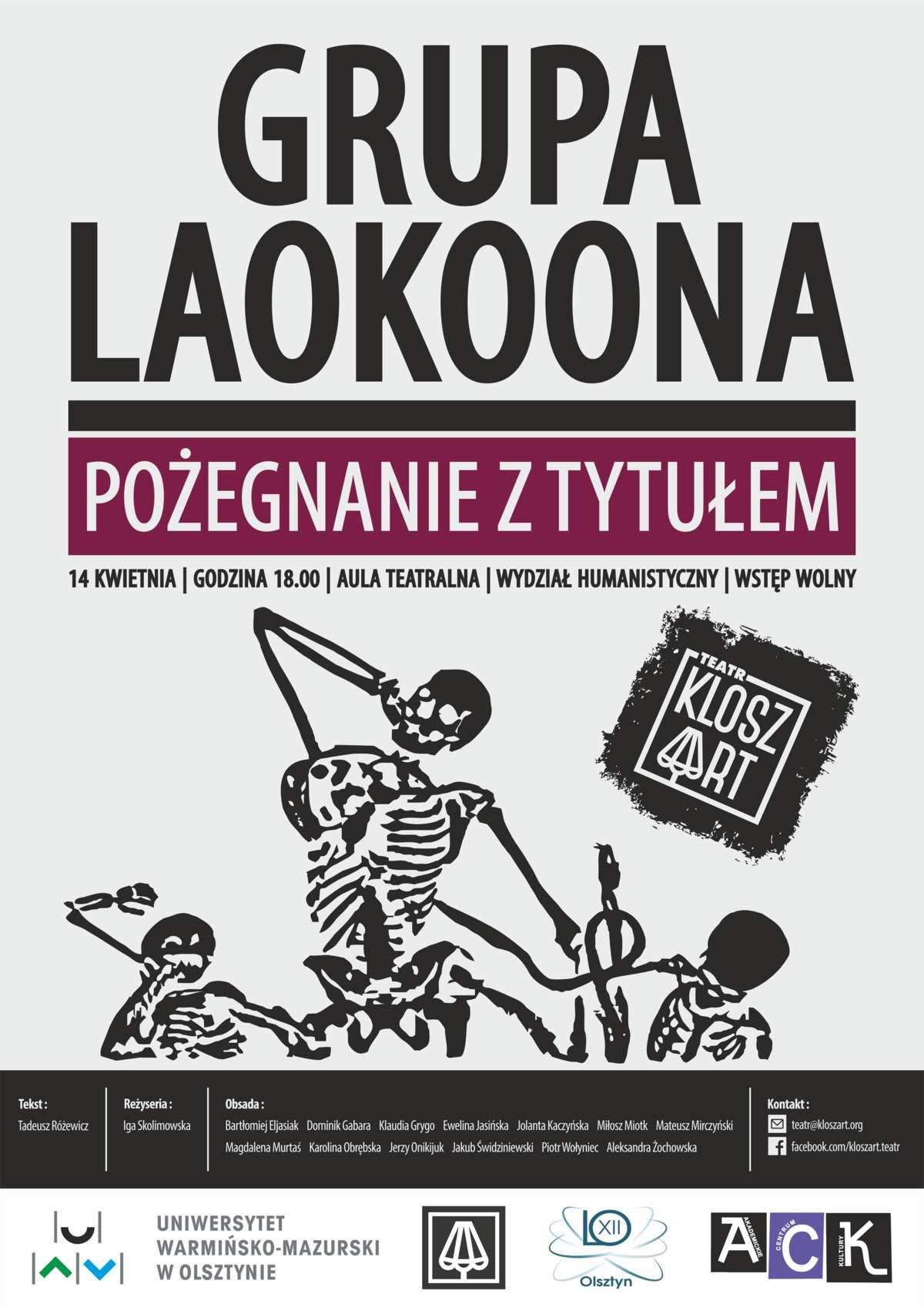 Kloszart wystawia Grupę Laokoona Tadeusza Różewicza  - full image