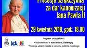 Procesja dziękczynna za dar kanonizacji Jana Pawła II