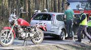 Kiepski początek sezonu motocyklowego. Zderzenie yamahy z fordem w Olsztynie [ZDJĘCIA]