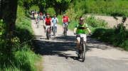 W maju  zdobywamy na rowerach szczyt Dylewskiej Góry