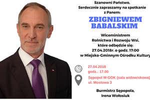 Wiceminister Babalski w Sępopolu!