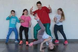 Zajęcia breakdance w domu kultury w Sępopolu.