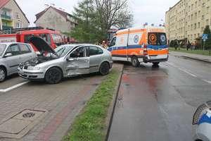 Dwa auta osobowe zderzyły się na ul. Gdańskiej