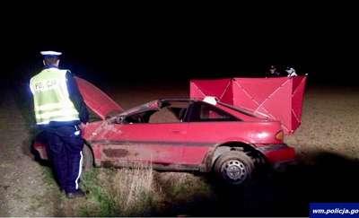 Pijany 32-latek dachował nissanem. Zginął pasażer auta