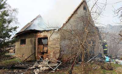 Pożar budynku gospodarczego w Wyszkowie