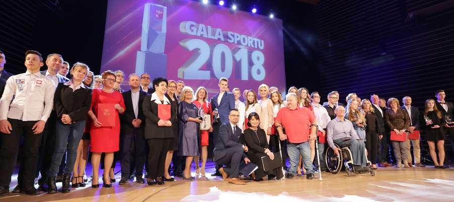 Gala Sportu Marszałka  Olsztyn-Gala Sportu w Filharmonii, wręczenie nagród wyróżniającym się sportowcom i działaczom