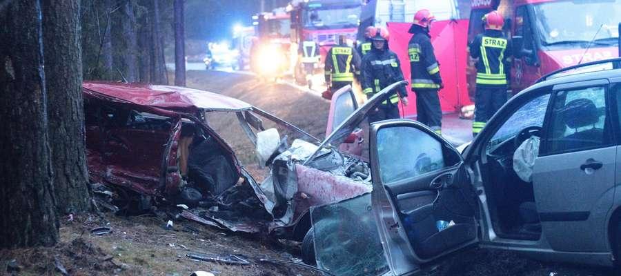 Do tragicznego wypadku doszło dwa kilometry za Trękuskiem
