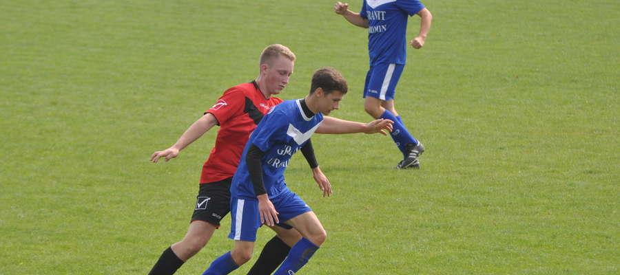 Bartosz Oleksiak (przy piłce) zdobył dwa gole fot. arch