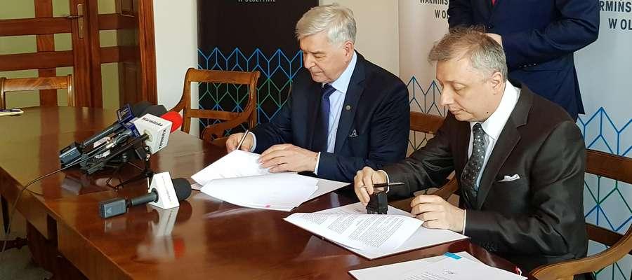 Podpisanie umowy na dofinansowanie nowego wydziału prawa i administracji UWM