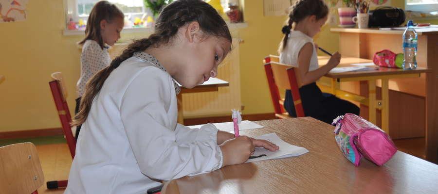 Podczas pisania gminnego dyktanda