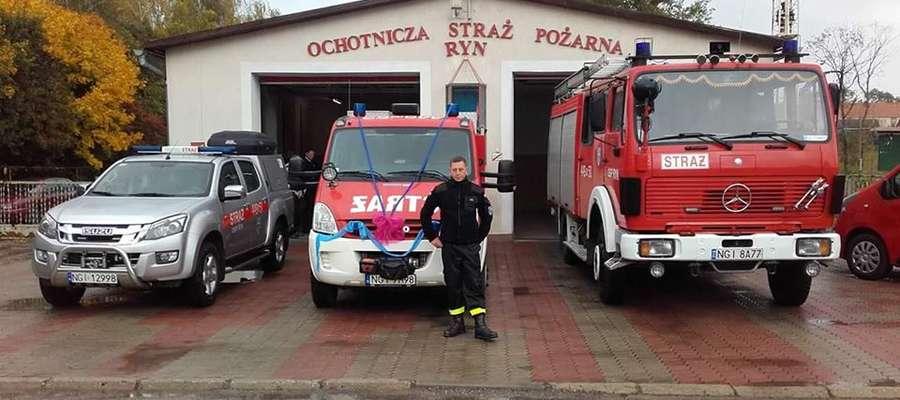 Remiza Ochotniczej Straży Pożarnej w Rynie