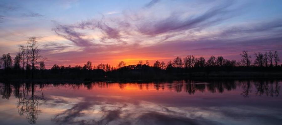 Zachód słońca nad Kamińskiem.