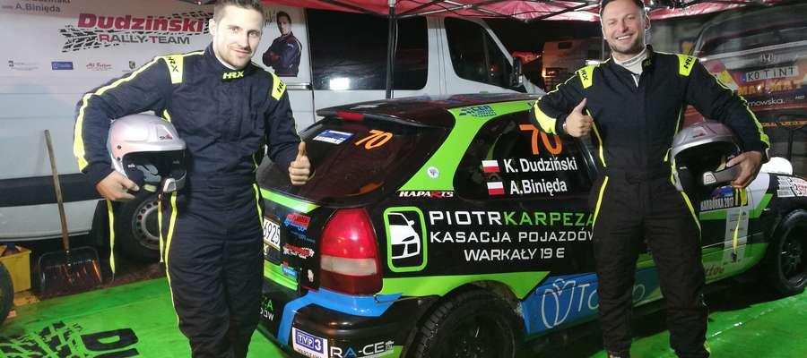 Konrad Dudziński (z lewej) i Adam Binięda liczą na udany start w Rajdzie Świdnickim