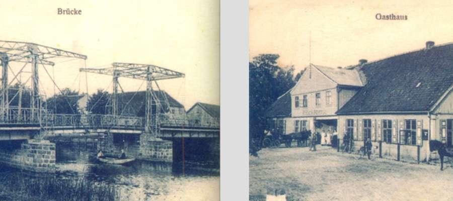 Gospoda i most nad Tyną, w osadzie zwanej po 1945 r. Mostek