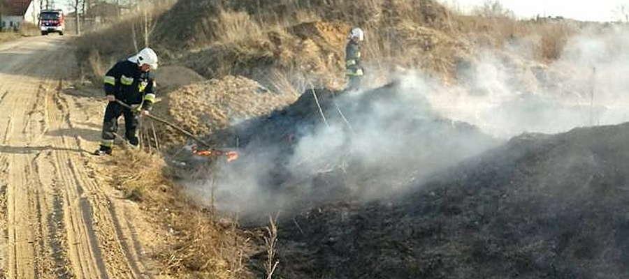 OSP Spytkowo. Pożar trawy w Zielonym Gaju