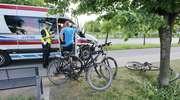 Czołowe zderzenie dwóch rowerzystów
