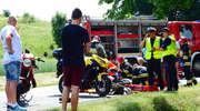 Motocyklista trafił do szpitala po zderzeniu z BMW [ZDJĘCIA]