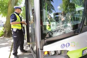 Ktoś strzelał w autobus w Olsztynie?