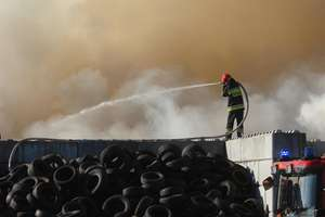 Akcja gaśnicza zakończona. Co się dzieje na składowisku odpadów w Olsztynie?