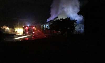 Pożar domu w Mostowie