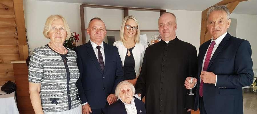 Pani Marianna Gawenda jest najstarszą mieszkanką gminy