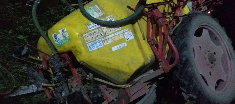 zderzenie traktora z tirem