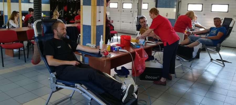 W czasie sobotniego poboru krwi