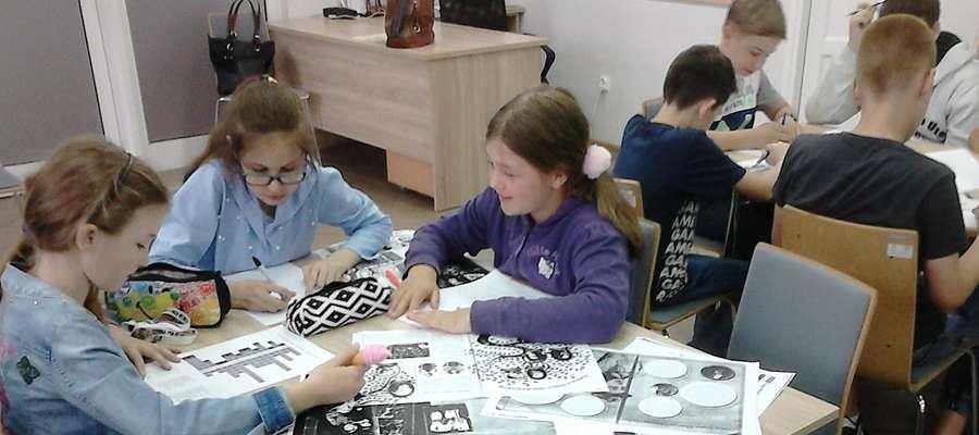 Podczas zajęć w nowomiejskiej bibliotece