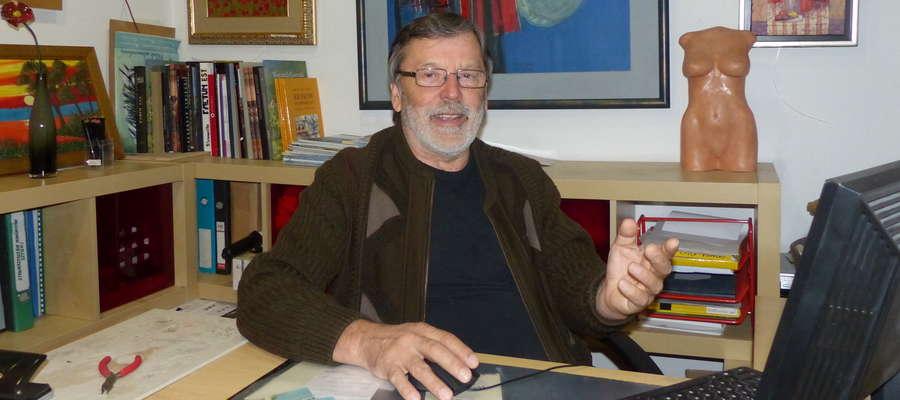 Edward Baranowski przez ostatnie 10 lat prowadził w Iławie galerię sztuki. Teraz zajmie się własnym malarstwem