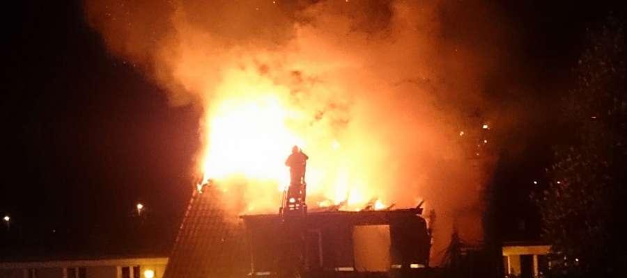 Pożar budynku przy ul. Żelaznej w Ornecie
