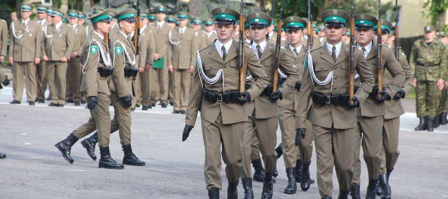 Jedną z atrakcji święta był pokaz musztry paradnej Kompanii Honorowej SG