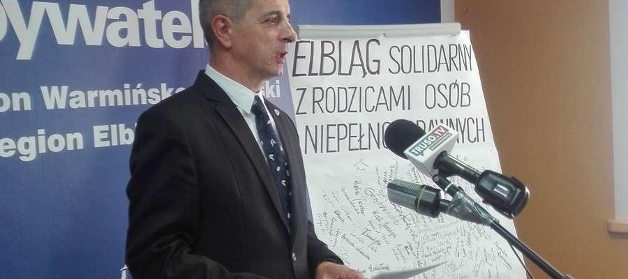 Konferencja prasowa Jerzego Wcisły