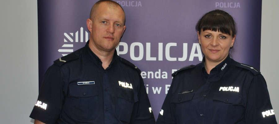 Marta i Marcin Kabelisowie to policyjne małżeństwo, które niesie pomoc także poza godzinami służby.