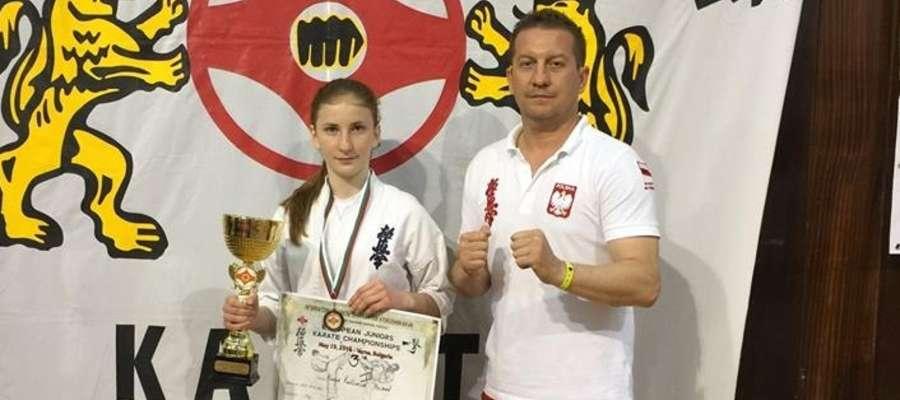Kinga Kuklińska i trener Wojciech Rejterada