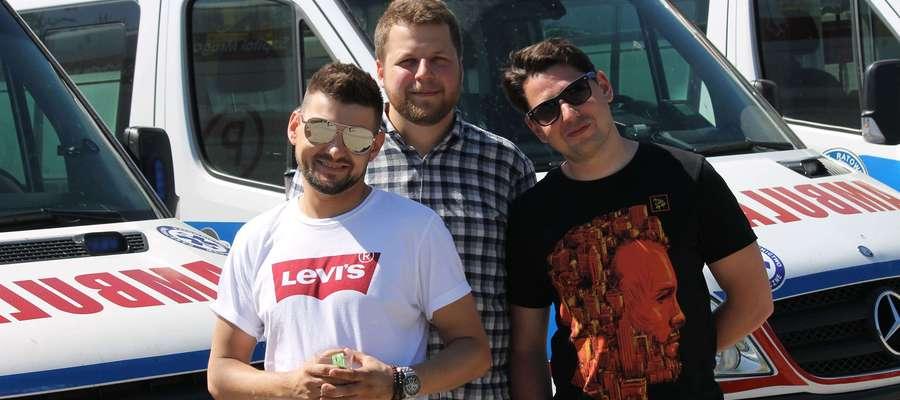 Od lewej: Jakub Suder, Jacek Błasiak i Mateusz Skalniak, czyli zespoł z Sosnowca, któremu bardzo podoba się w naszym regionie.